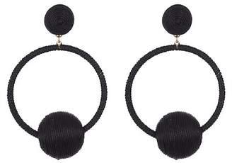 Natasha Accessories Thread Wrapped Doorknocker Earrings