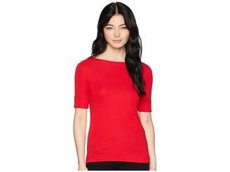 Lauren Ralph Lauren Petite Cotton Boat Neck T-Shirt