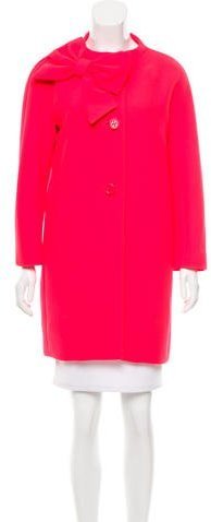 Kate Spade Kate Spade New York Bow-Accented Knee-Length Coat