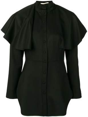 Sara Battaglia capelet shirt