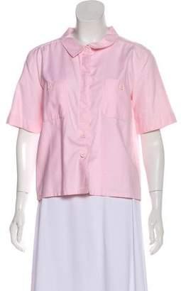Courreges Short Sleeve Button-Up Top