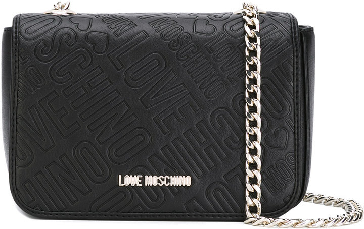 Love Moschino Love Moschino logo embossed crossbody bag