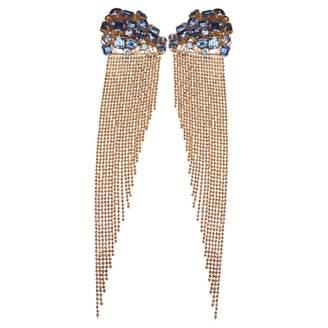Jean Louis Scherrer Vintage Jean-louis Scherrer Blue Metal Earrings