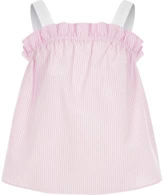 River Island Girls Pink stripe frill cami top