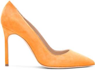Manolo Blahnik Suede BB 105 Heels