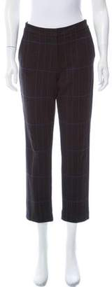 Theory Checkered Mid-Rise Pants