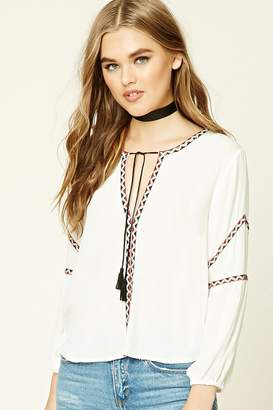 Forever 21 Boxy Tribal-Inspired Top