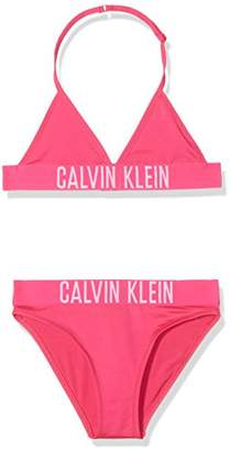 Calvin Klein Girl's Triangle Bikini Swimwear Set,(Manufacturer Size: 4-5)