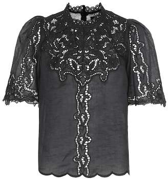 Isabel Marant Mumba broderie anglaise top
