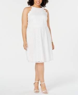 BCX Juniors' Trendy Plus Size Lace Halter Dress