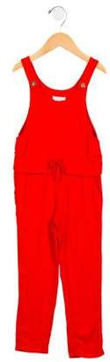 Chloé Girls' Cinched Straight-Leg Jumpsuit