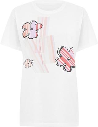 Sabinna Striped Flowers T-Shirt