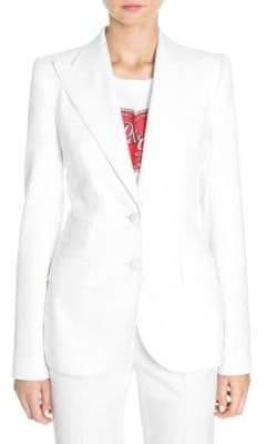 Dolce & Gabbana Natte Two-Button Jacket