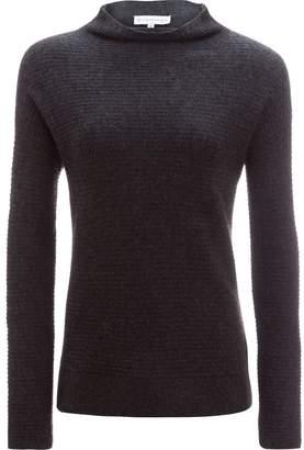 White + Warren Horizontal Rib Standneck Sweater - Women's