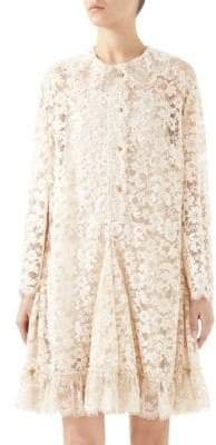Gucci Lace Flare Hem Dress