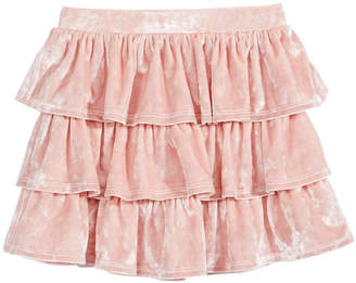 Epic Threads Little Girls Tiered Velvet Skirt