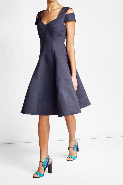 Paule KaPaule Ka Cotton Dress with Cut-Out Shoulders