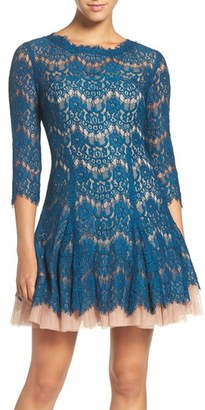 Betsy & Adam Cutout Back Lace Fit & Flare Dress $250 thestylecure.com