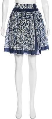 Nili Lotan Printed Knee-Length Skirt