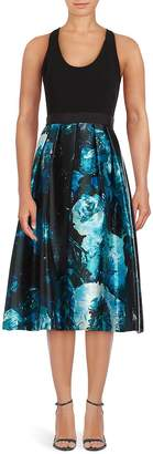 Carmen Marc Valvo Women's Fit-&-Flare Floral Print Dress