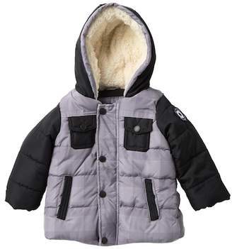 Ben Sherman Bubble Jacket with Faux Fur Lining (Baby Boys)