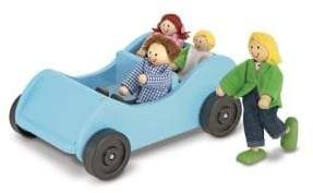 Melissa & Doug Road Trip Wooden Car and Pose-able Passengers Toy