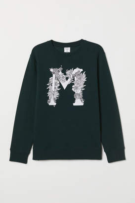 H&M Sweatshirt with Motif - Green