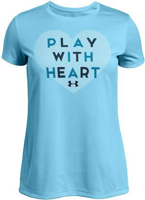 Under Armour Big Girls Heart-Print T-Shirt