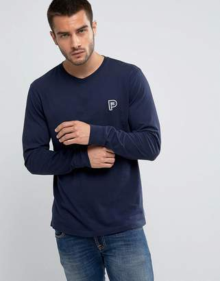 Penfield Copley Long Sleeve Top P Logo Regular Fit in Navy