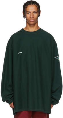 Vetements Green Inside-Out Shark Sweatshirt