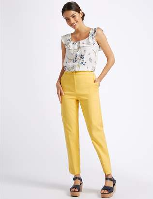 Marks and Spencer Cotton Blend Trousers
