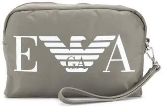 482d36f0bf35 Emporio Armani logo print make up bag