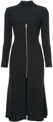 zipped flared dress
