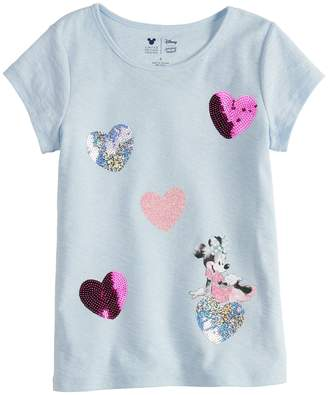 Disney Minnie Mouse Girls 4-7 Heart Tee By Jumping Beans