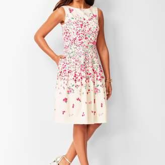 Talbots Rose Garden Fit & Flare Dress