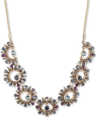 "Marchesa Gold-Tone Stone & Crystal 30-1/2"" Statement Necklace"