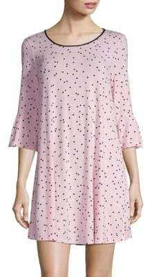 Kate Spade Bow Three-Quarter Sleeve Sleepshirt