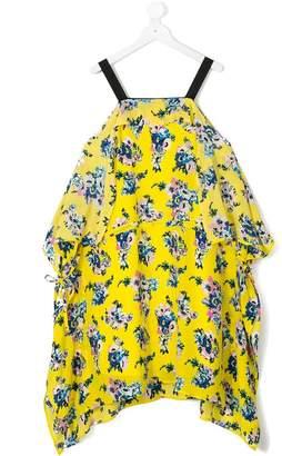 MSGM Kids floral print dress