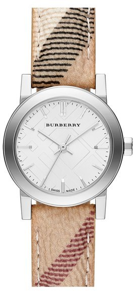 Burberry Small Check Strap Watch, 26mm