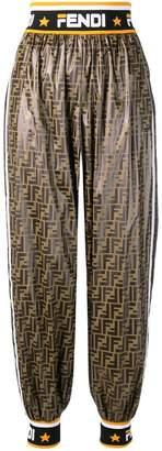 Fendi logo print track pants