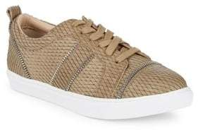 Botkier New York Harvey Snake Print Leather Sneakers