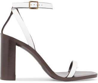 Saint Laurent Loulou Leather Sandals - White
