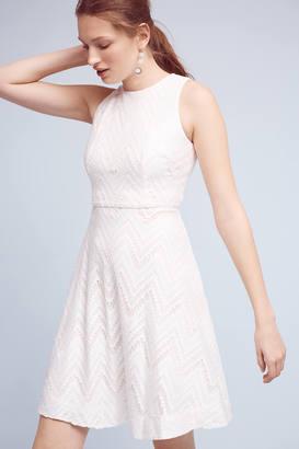 Donna Morgan Devereaux Chevron Dress $178 thestylecure.com