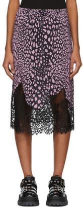 McQ Pink Animal Print Skirt