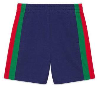 Gucci Children's jersey shorts with Web