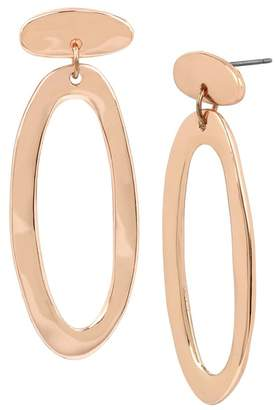 Robert Lee Morris Hammered Oval Drop Earrings