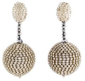 Oscar de la Renta Crystal Sorbet Clip-On Earrings
