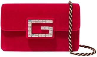 Gucci Red Velvet Handbag