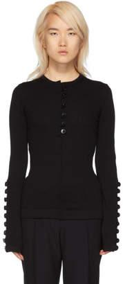 Jil Sander Black Buttons Sweater