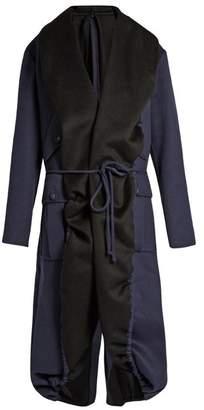 Sies Marjan - Tie Waist Double Faced Coat - Womens - Black Navy